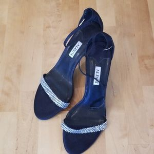 ALFANI heels womens 8 rhinestones crystals